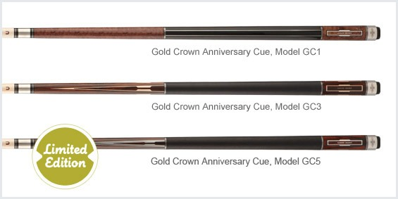 Limited edition Gold Crown Anniversary Cues