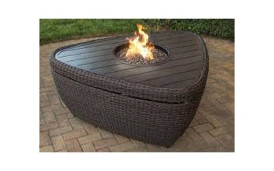"Brisbane 52"" Trianglular Woven Fire Table"